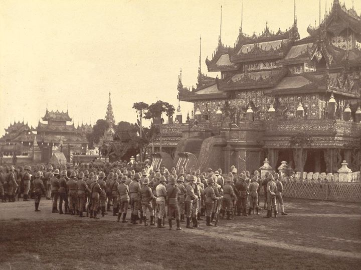 Mandalay palace in 1885