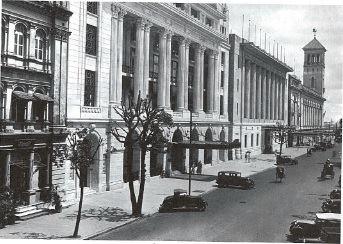 "Phayre Street (Pansodan) ""lower block"" during its 1920s heyday."