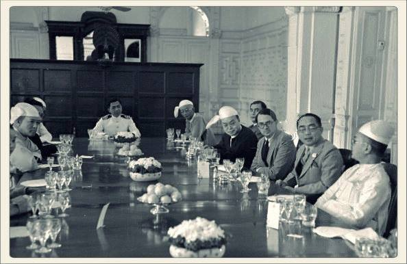 Photograph of Lunch Hosted by President Sao Shwe Thaik in 1949