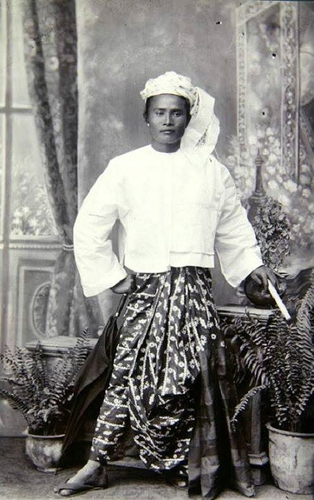 Portrait of an unidentified Burmese man c. 1875 by German ethnologist and explorer Fedor Jagor