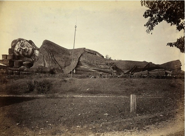 The Shwethalyaung Buddha at Pegu (now Bago) in 1881