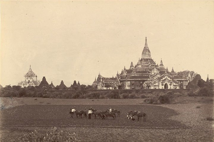 The Ananda temple c. 1855.